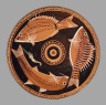Asteas-Python Workshop / Fish plate / about 350-330 B.C.