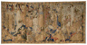 """Artist not recorded / Tapestry: """"The First Four Articles of the Creed"""" (from the series THE APOSTLES' CREED) / about 1475-1500"""
