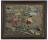Artist not recorded / Embroidered picture / mid-18th century