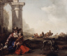 Jan Baptist Weenix / Italian Peasants and Ruins / c. 1649-1650