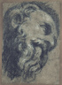 Tintoretto / Study after Michelangelo's Saint Damian / c. 1545/1550
