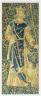 Southern Netherlands / Millefleurs Fragment: Jupiter, King of the Gods / c. 1500-1525