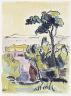 Karl Schmidt-Rottluff / View of Lake Leba with the Revekol / 1930/1933