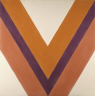 Kenneth Noland / Purple in the Shadow of Red / 1963