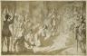 Jacques Callot / Admiral Inghirami Presenting Berber Prisoners to Ferdinand I of Tuscany / 1615/1620