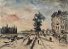 Johan Barthold Jongkind / Quai on the Seine, Paris / c. 1920