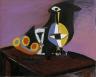 Pablo Picasso / Fruit, Carafe and Glass / 1938