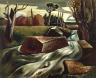 Everett Spruce / Swollen Stream / 1935