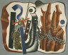 Fernand Leger / Composition with Tree Trunks / 1933
