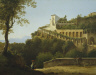 Pierre-Anthanase Chauvin / A Convent Near Naples, with a View of Capri / 1816