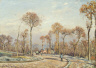 Camille Pissarro / The Road to Versailles, Louveciennes: Morning Frost / 1871