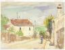 Camille Pissarro / The Rue de l'Hermitage, Pontoise / 1873-1875