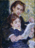 Pierre-Auguste Renoir / In the Studio (Georges Riviere and Marguerite Legrand) / 1876-1877