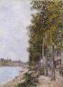 Alfred Sisley / Road Along the Seine at Saint-Mammes / c. 1880