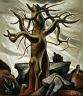 Everett Spruce / Tree and Rocks / 1932