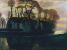 Piet Mondrian / Farm Near Duivendrecht, in the Evening / c. 1916  (Reprise of a Compositional Series From 1905-1908)