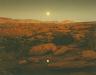 John Pfahl / Moonrise over Pie Pan, Capitol Reef National Park, Utah / October 1977