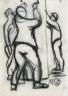 Paul-Émile Borduas / Trois ouvriers au travail / 1928