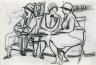 Paul-Émile Borduas / Conversation sur un banc public / 1928