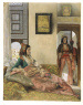 John Frederick Lewis / LIFE IN THE HAREEM, CAIRO / Signed and dated 1858