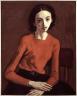 Moses Soyer / Girl in Orange Sweater / 1953