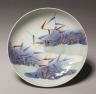 Japan, Edo Period (1615-1868) / Dish with Reeds and Mist: Nabeshima Type / c. 1700