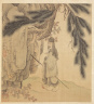 Chen Hongshou / Paintings after Ancient Masters: Scholar with Staff and Brush / 1598-1652