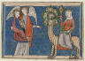 France, Lorraine, 13th century / Miniature from a Manuscript of the Apocalypse: The Woman Clothed with the Sun / c. 1295