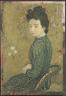 Maurice Denis / Portrait of Eva Meurier in a Green Dress / 1891