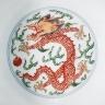 China, Jiangxi Province, Jingdezhen / Pair of Bowls (Wan) with Dragons Chasing Flaming Pearl / Qing dynasty, Kangxi mark and period, 1662-1722