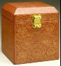China / Seal Box (Yinhe) with Lotus Scrolls and the Eight Buddhist Symbols (Bajixiang) / Ming dynasty, Yongle period, 1403-1424