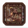 China / Square Dish (Die) with Figure on Horse / Qing dynasty, Kangxi period, 1662-1722