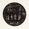 China / Circular Cosmetic Box with Figures in Landscape / Late Ming dynasty, circa 1550