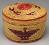 Nuu-chah-nulth  (Nootka) / Small Round Basket in Bandbox  Shape / 20th  century