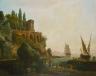 Claude-Joseph Vernet / Imaginary Landscape, Italian Harbor  Scene / 1746