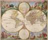 Karel Allard / Map of the World / c.  1710