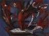 Paul-Émile Borduas / Composition Blue, White, Red / 1944