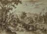 Sebastian Vrancx / Mountainous Landscape / 1597