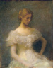 Thomas Wilmer Dewing / Young Girl Seated / 1896