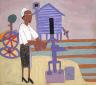 William H. Johnson / Woman Pumping Water / ca. 1940-1941