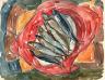 William H. Johnson / Still Life with Seven Fish / ca. 1930-1932