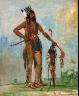 George Catlin / Ka-b??s-hunk, He Who Travels Everywhere, a Warrior / 1835