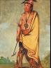 George Catlin / No-ak-chóo-she-kaw, He Who Breaks the Bushes / 1828