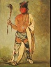 George Catlin / Naugh-háigh-hee-kaw, He Who Moistens the Wood / 1828