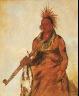 George Catlin / No-o-mún-nee, Walks in the Rain, a Warrior / 1832