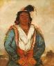 George Catlin / Hose-put-o-káw-gee, a Brave / 1834