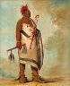 George Catlin / Tchong-tas-sáb-bee, Black Dog, Second Chief / 1834