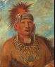 George Catlin / Neu-mon-ya, Walking Rain, War Chief / 1844