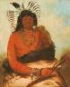 George Catlin / Háh-nee, The Beaver, a Warrior / 1834