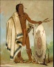 George Catlin / Kotz-a-tó-ah, Smoked Shield, a Distinguished Warrior / 1834